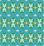 Абстрактная винтажная этническая геометрическая орнаментальная безшовная картина Дизайн мандалы Стоковые Изображения