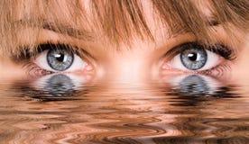 абстрактная вода глаз Стоковая Фотография