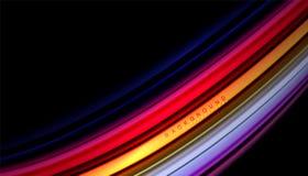 Абстрактная волна выравнивает жидкие нашивки цвета Стоковое фото RF