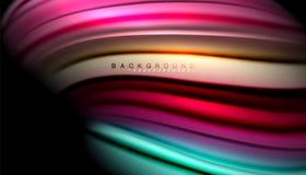 Абстрактная волна выравнивает жидкие нашивки цвета Стоковые Изображения RF