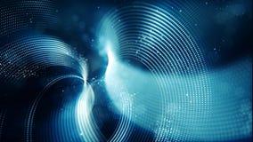 Абстрактная волна с точками и линией голубой предпосылкой цвета иллюстрация штока