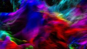 Абстрактная волнистая и красочная предпосылка иллюстрации Стоковые Изображения