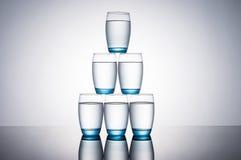 абстрактная вода фото синих стекол стоковое фото rf