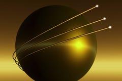 абстрактная волоконная оптика связи предпосылки Стоковое Изображение