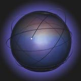 абстрактная волоконная оптика связи предпосылки Стоковая Фотография RF