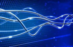 абстрактная волоконная оптика связи предпосылки иллюстрация вектора