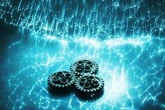 абстрактная волоконная оптика связи предпосылки Стоковые Фотографии RF