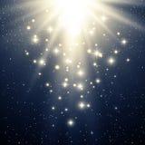 Абстрактная волшебная голубая светлая предпосылка Стоковое Изображение RF