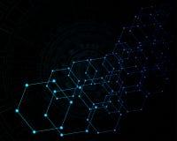 Абстрактная высокая технология как предпосылка иллюстрация штока