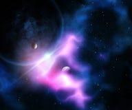 абстрактная выдуманная сцена космоса 3D иллюстрация вектора