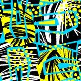 Абстрактная геометрическая безшовная грубая картина grunge, современное desig Стоковые Изображения RF