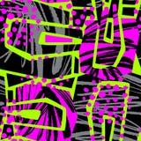 Абстрактная геометрическая безшовная грубая картина grunge, современное desig Стоковые Изображения