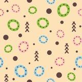 Абстрактная геометрическая безшовная картина для детей Нарисовано вручную бесплатная иллюстрация