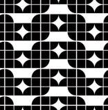 Абстрактная геометрическая безшовная картина, контраст Стоковые Изображения