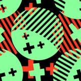 Абстрактная геометрическая безшовная картина кругов иллюстрация вектора