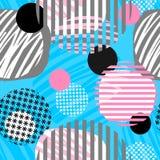 Абстрактная геометрическая безшовная картина кругов иллюстрация штока