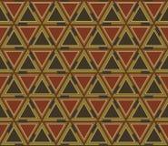 Абстрактная геометрическая безшовная картина, предпосылка Графическая мозаика покрашенных треугольников Стоковое Изображение RF