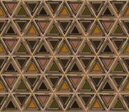 Абстрактная геометрическая безшовная картина, предпосылка Графическая мозаика покрашенных треугольников Стоковое Фото
