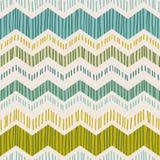 Абстрактная геометрическая безшовная картина с зигзагом Ультрамодной текстуры нарисованные рукой бесплатная иллюстрация