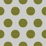 Абстрактная геометрическая безшовная картина с кругами Стоковое Фото