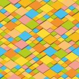 Абстрактная геометрическая безшовная предпосылка, кубическая структура мозаики Лето красит равновеликую картину Стоковые Фото