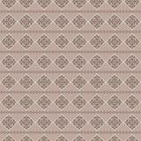 Абстрактная геометрическая безшовная предпосылка с цветом кофе Стоковая Фотография