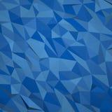 Абстрактная геометрическая голубая предпосылка, 3d представляет с геометрическими формами Стоковая Фотография