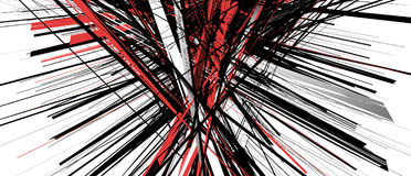 Абстрактная геометрическая иллюстрация с случайными, хаотическими элементами иллюстрация вектора