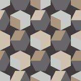 абстрактная геометрическая картина безшовная кубики 3d предпосылка может используемая текстура мозаики иллюстрация штока