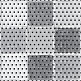 абстрактная геометрическая картина безшовная Предпосылка вектора monochrome с различными квадратами иллюстрация вектора