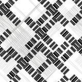 абстрактная геометрическая картина безшовная Предпосылка monochrome вектора иллюстрация вектора