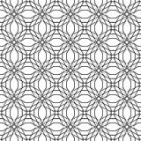 абстрактная геометрическая картина безшовная Черно-белая картина стиля с кругом Стоковое Изображение