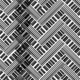 абстрактная геометрическая картина безшовная Черно-белая предпосылка иллюстрация штока