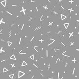 абстрактная геометрическая картина безшовная Эскиз, doodle, scribble иллюстрация штока