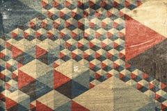Абстрактная геометрическая картина как предпосылка Стоковое Фото