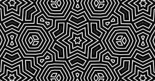 абстрактная геометрическая картина калейдоскопа 4K с каналом альфы иллюстрация вектора