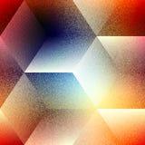 Абстрактная геометрическая картина кубов на запачканный Стоковая Фотография