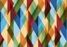 Абстрактная геометрическая картина мозаики с треугольниками Дизайн иллюстрации вектора иллюстрация штока