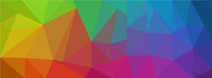 Абстрактная геометрическая картина полигона с формой треугольника параметрической Стоковые Фото