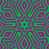 Абстрактная геометрическая картина предпосылки в зеленых и розовых цветах Этнический стиль boho Структура орнамента мозаики, прои Стоковое Изображение RF