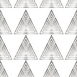 Абстрактная геометрическая картина с линиями, квадратами солнцецветы предпосылки безшовные голубая темная текстура Стоковое Изображение