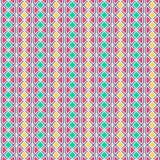 Абстрактная геометрическая картина с линиями Безшовная предпосылка вектора Графическая современная картина в желтом, розовом, зел Стоковые Фотографии RF