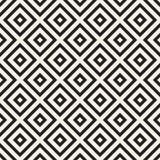 Абстрактная геометрическая картина с нашивками, линиями Безшовное ackground вектора Черно-белая текстура решетки Стоковое фото RF
