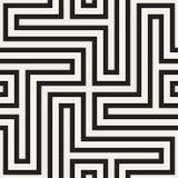 Абстрактная геометрическая картина с нашивками, линиями Безшовное ackground вектора Черно-белая текстура решетки Стоковая Фотография
