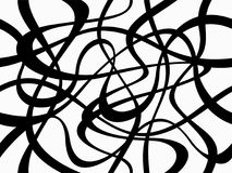 Абстрактная геометрическая картина с случайными хаотическими линиями бесплатная иллюстрация