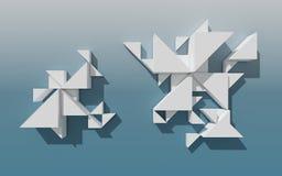 Абстрактная геометрическая конструкция 3D Стоковое фото RF