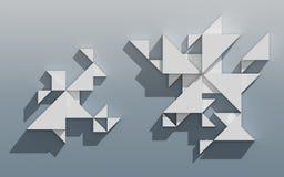 Абстрактная геометрическая конструкция 3D Стоковая Фотография
