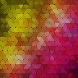 Абстрактная геометрическая пестротканая предпосылка состоя из триангулярных элементов Стоковое фото RF
