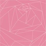 Абстрактная геометрическая полигональная роза пинка Стоковые Фото