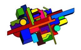 Абстрактная геометрическая предпосылка в иллюстрации вектора искусства suprematism стиля стоковые фотографии rf